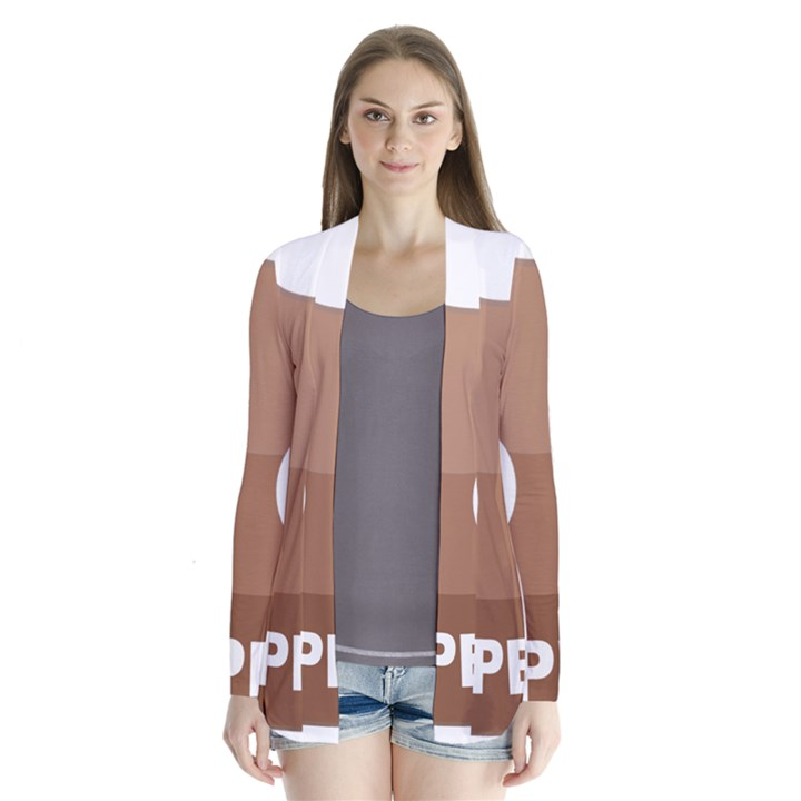 Poo Happens Drape Collar Cardigan