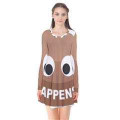 Poo Happens Flare Dress