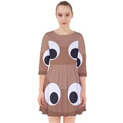 Poo Happens Smock Dress by Vitalitee