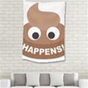 Poo Happens Small Tapestry View2
