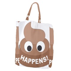 Poo Happens Giant Grocery Zipper Tote by Vitalitee