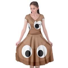 Poo Happens Cap Sleeve Wrap Front Dress