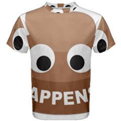 Poo Happens Men s Cotton Tee