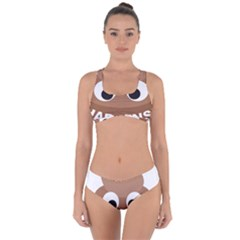Poo Happens Criss Cross Bikini Set