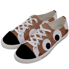 Poo Happens Women s Low Top Canvas Sneakers by Vitalitee