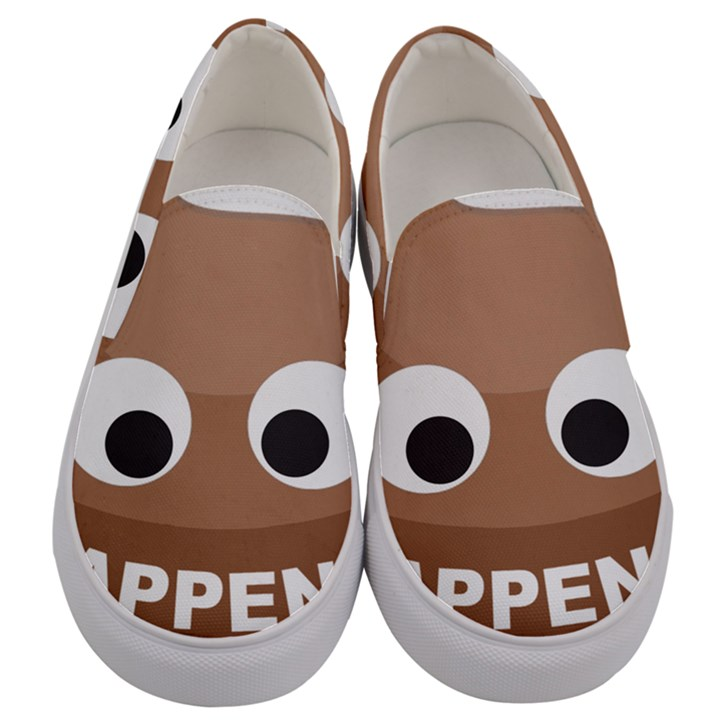 Poo Happens Men s Canvas Slip Ons