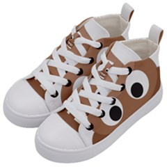 Poo Happens Kid s Mid Top Canvas Sneakers by Vitalitee