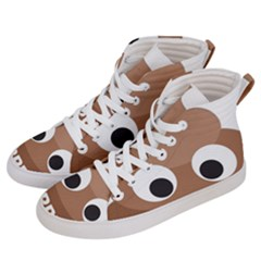 Poo Happens Men s Hi Top Skate Sneakers by Vitalitee