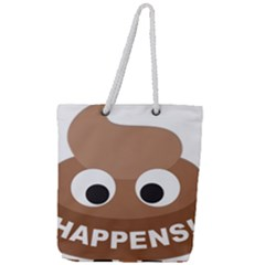 Poo Happens Full Print Rope Handle Tote (large)