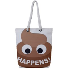 Poo Happens Full Print Rope Handle Tote (small)