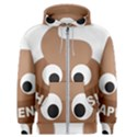Poo Happens Men s Zipper Hoodie View1