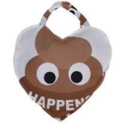 Poo Happens Giant Heart Shaped Tote