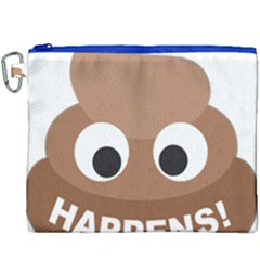 Poo Happens Canvas Cosmetic Bag (xxxl) by Vitalitee