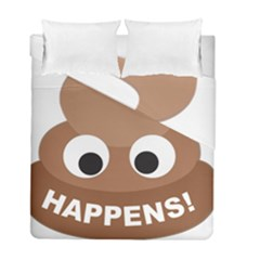 Poo Happens Duvet Cover Double Side (full/ Double Size)