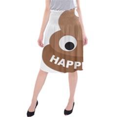 Poo Happens Midi Beach Skirt
