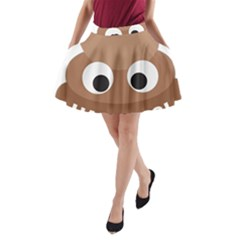 Poo Happens A Line Pocket Skirt