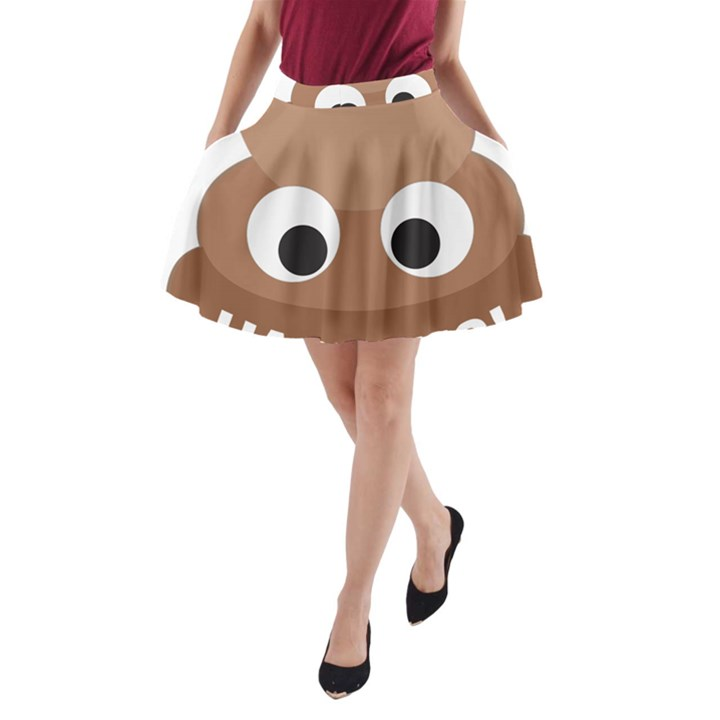 Poo Happens A-Line Pocket Skirt