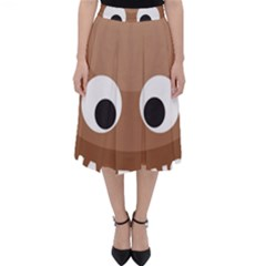 Poo Happens Folding Skater Skirt