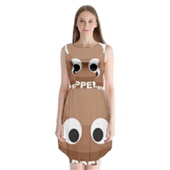 Poo Happens Sleeveless Chiffon Dress