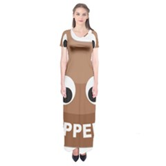 Poo Happens Short Sleeve Maxi Dress