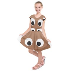 Poo Happens Kids  Short Sleeve Dress