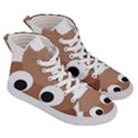 Poo Happens Men s Hi-Top Skate Sneakers View3