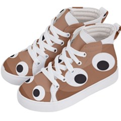 Poo Happens Kid s Hi Top Skate Sneakers by Vitalitee