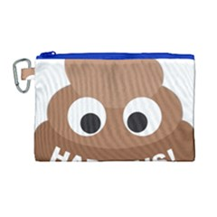 Poo Happens Canvas Cosmetic Bag (large) by Vitalitee