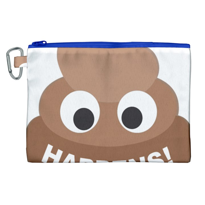 Poo Happens Canvas Cosmetic Bag (XL)