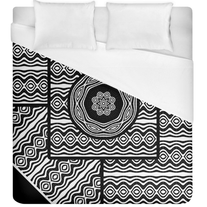 Wavy Panels Duvet Cover (King Size)