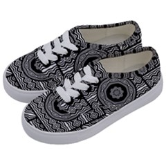 Wavy Panels Kids  Classic Low Top Sneakers by linceazul
