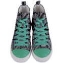 Wavy Panels Women s Mid-Top Canvas Sneakers View1