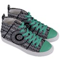 Wavy Panels Women s Mid-Top Canvas Sneakers View3