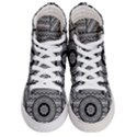 Wavy Panels Men s Hi-Top Skate Sneakers View1