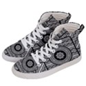 Wavy Panels Men s Hi-Top Skate Sneakers View2