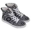 Wavy Panels Men s Hi-Top Skate Sneakers View3
