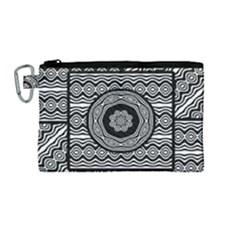 Wavy Panels Canvas Cosmetic Bag (medium) by linceazul