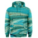 Mint,gold,marble,nature,stone,pattern,modern,chic,elegant,beautiful,trendy Men s Pullover Hoodie View1