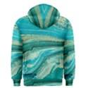 Mint,gold,marble,nature,stone,pattern,modern,chic,elegant,beautiful,trendy Men s Zipper Hoodie View2