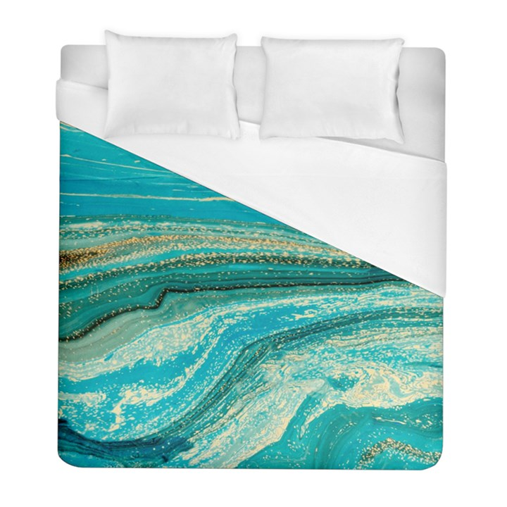 Mint,gold,marble,nature,stone,pattern,modern,chic,elegant,beautiful,trendy Duvet Cover (Full/ Double Size)
