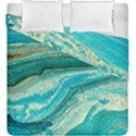 Mint,gold,marble,nature,stone,pattern,modern,chic,elegant,beautiful,trendy Duvet Cover Double Side (King Size) View1