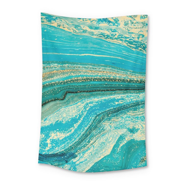 Mint,gold,marble,nature,stone,pattern,modern,chic,elegant,beautiful,trendy Small Tapestry