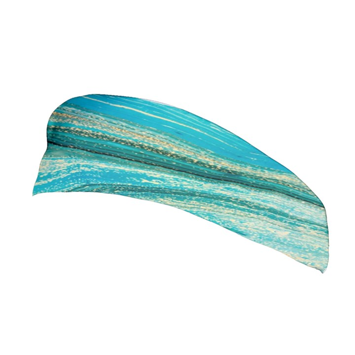 Mint,gold,marble,nature,stone,pattern,modern,chic,elegant,beautiful,trendy Stretchable Headband