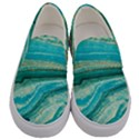 Mint,gold,marble,nature,stone,pattern,modern,chic,elegant,beautiful,trendy Men s Canvas Slip Ons View1