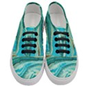 Mint,gold,marble,nature,stone,pattern,modern,chic,elegant,beautiful,trendy Women s Classic Low Top Sneakers View1