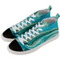 Mint,gold,marble,nature,stone,pattern,modern,chic,elegant,beautiful,trendy Men s Mid-Top Canvas Sneakers View2
