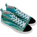 Mint,gold,marble,nature,stone,pattern,modern,chic,elegant,beautiful,trendy Men s Mid-Top Canvas Sneakers View3