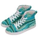 Mint,gold,marble,nature,stone,pattern,modern,chic,elegant,beautiful,trendy Women s Hi-Top Skate Sneakers View2