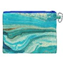Mint,gold,marble,nature,stone,pattern,modern,chic,elegant,beautiful,trendy Canvas Cosmetic Bag (XXL) View2
