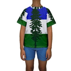 Flag Of Cascadia Kids  Short Sleeve Swimwear by abbeyz71